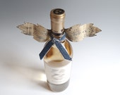 Wine Bottle Accessory Angel Wings Kitchen Decor Metal Denim French Country Wings Bottle Topper