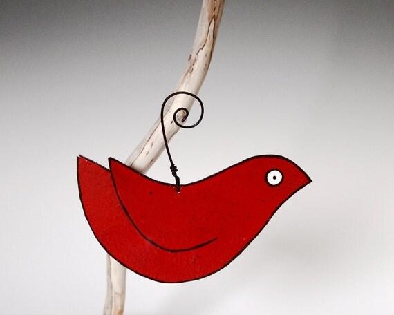 Bird Ornament - Redbird Colorful Gardening Metal Garden Ornament
