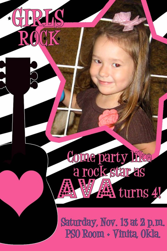 Print Your Own Rockstar Birthday Invitation