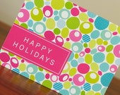 10 Mid Century Modern Holiday Greeting Cards - Chic Eames-Inspired Pattern