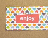 Modern Pop Art Mini Enjoy Enclosure Cards - Bright Heart Pattern - Catherine