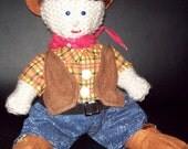 Cowboy Doll Hand Knit