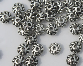 Supplies Spacers beads 50 (fifty) 4mm swirl