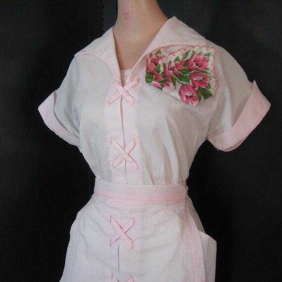 Pink Waitress Uniform 6