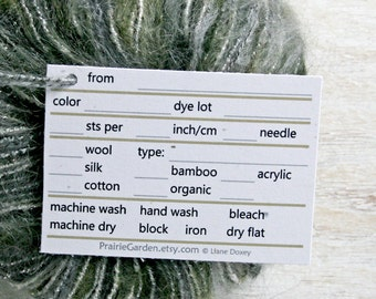 pdf Yarn Tags in subtle neutral tones print at home