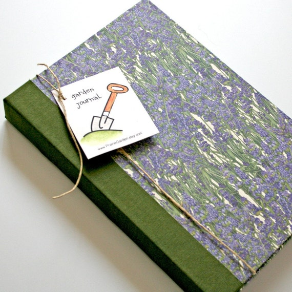 Garden Journal Essentials with lavender cover Ready to ship