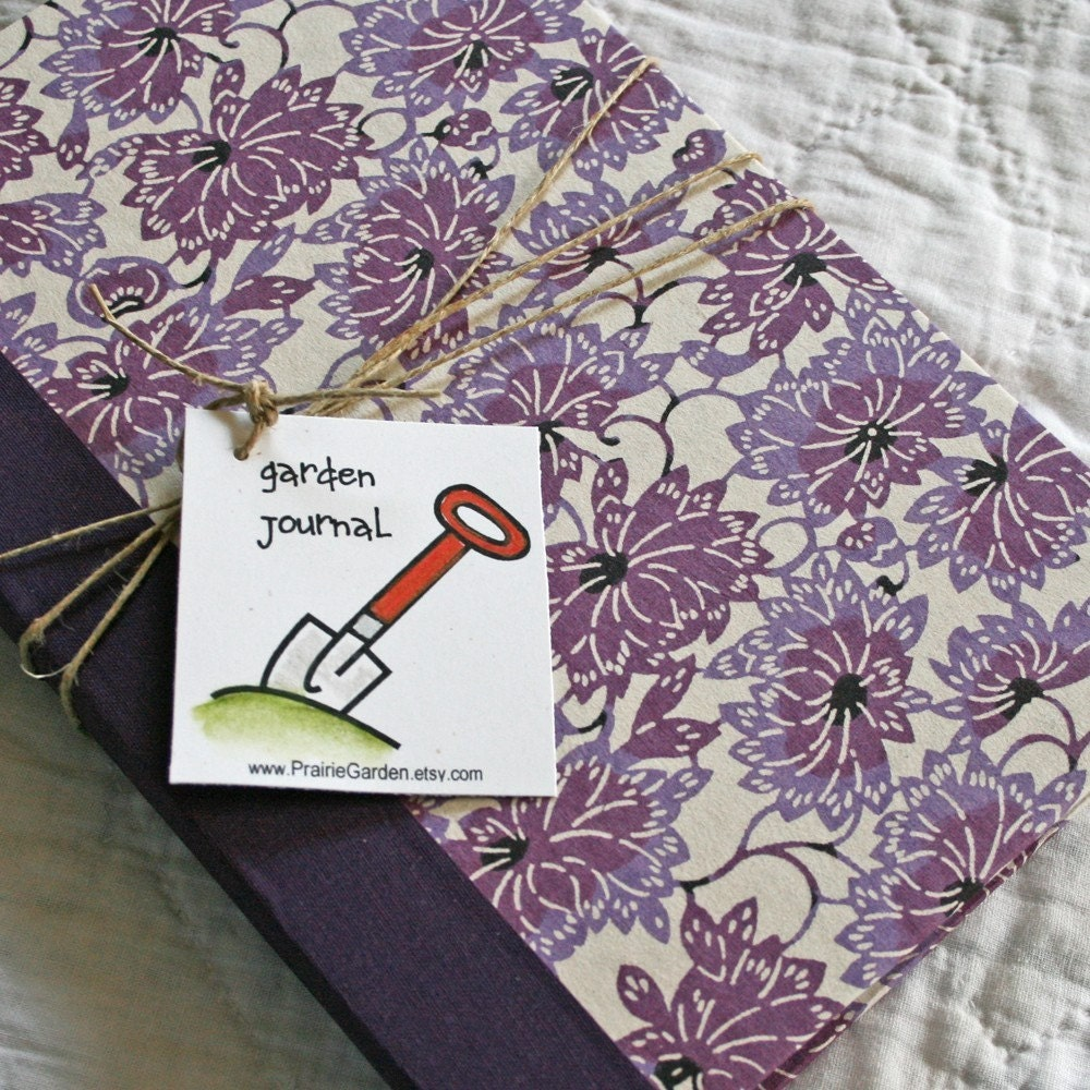 Garden Journal The Essentials with Purple Lotus Flower cover
