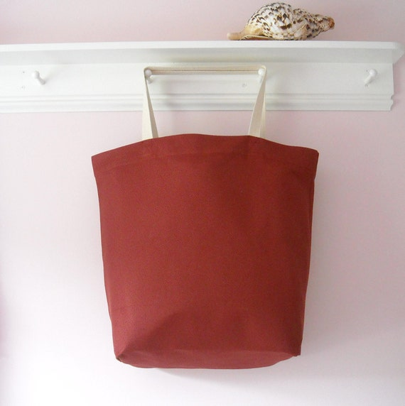 Extra Large Tote Bag - Spice Home Decorator Fabric