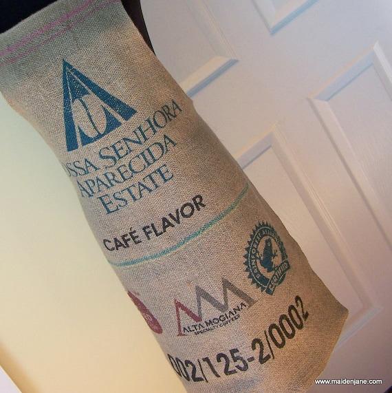 Coffee Bag Apron - Upcycled Coffee Sack - Butcher Syle Nossa - Unisex