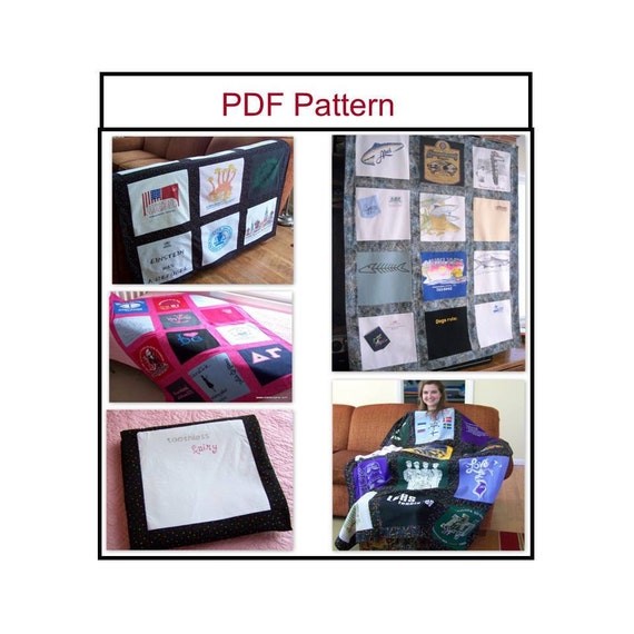 Sewing Pattern - T-Shirt Memory  Quilt  Blanket Pattern