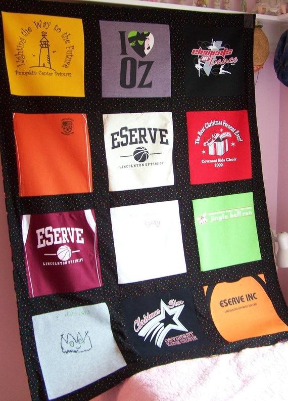 Custom Blanket T Shirt Memory Quilt Blanket 12 By Maidenjane