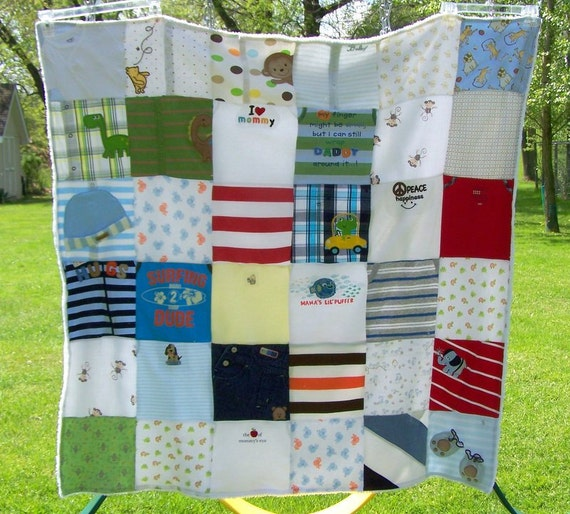 Custom Baby Clothes Quilt Memory Blanket Memory By Maidenjane