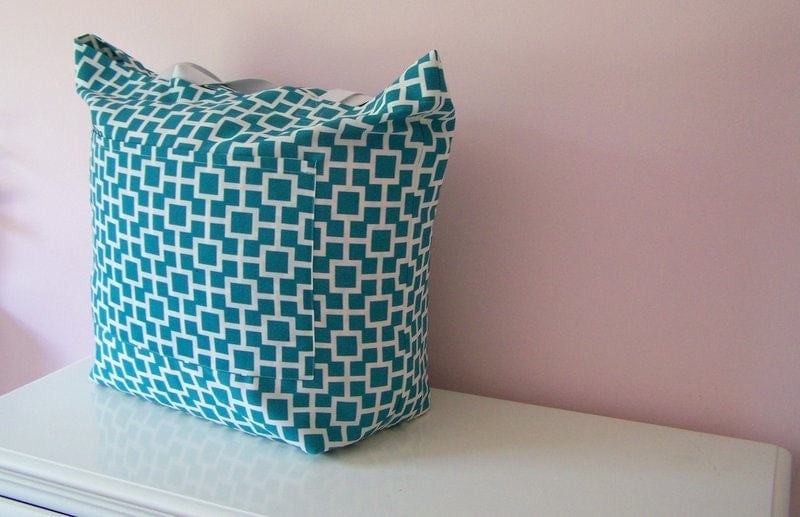 Oversized Beach Tote Extra Large Tote Beach Bag Mod Teal