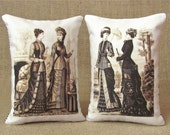Victorian Women Bookends - Shelf Pillows