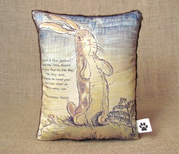 The Velveteen Rabbit - Little Decorative Pillow With Quote