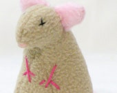 Tan Stuffed Rat Pet Toy with Rattle