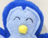 Small Blue Colorful Penguin Plush Toy