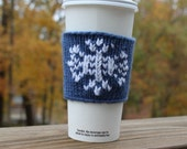 Nordic Snowflake Coffee Cup Cozy