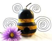 Bumble Bee Gourd Bird House-handpainted