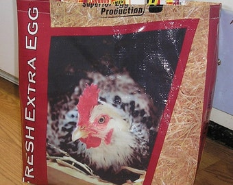 Upcycled Reusable market grocery bag compliments of Kent Chicken Feed