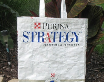 Upcycled Reusable market grocery tote bag for horse lovers