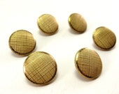Gold Shank Buttons Vintage Weaved Wire Mesh
