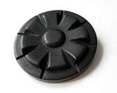 Art Deco Extra large button - 1 black vintage button 48mm