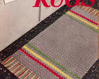 Crochet rug pattern PDF pattern booklet from the original Star Book 93 American Thread Company