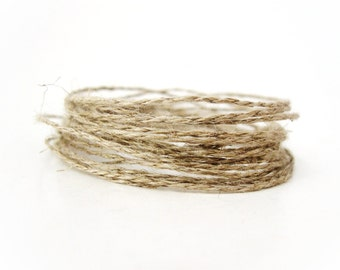 Linen Cord Natural Twine - 10m  (C20)