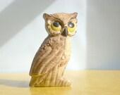I'M TOO CUTE vintage ceramic OWL