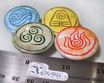 Avatar The Last Airbender Button Set