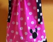 Pink Polkadot  Minnie Mouse Pillowcase Dress