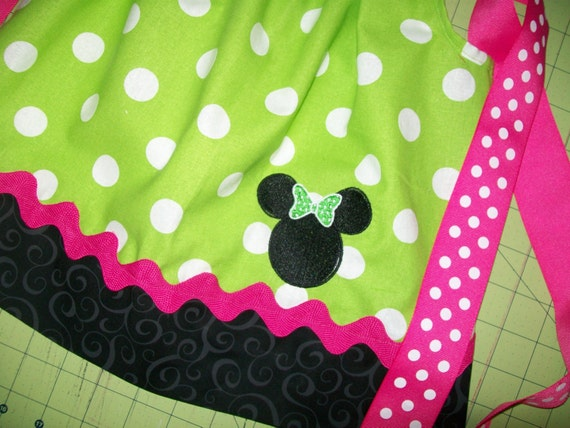 Lime Minnie Mouse Pillowcase Dress
