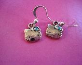 Now PIF....Hello Kitty Teal Sparkle Earrings