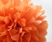 BURNT ORANGE / 1 tissue paper pom pom / wedding decorations / diy / thanksgiving decorations / holiday party decor / orange decorations