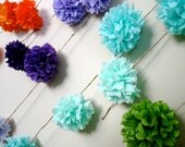 choose your colors ... diy tissue paper garland // nursery // birthday // gender reveal // wedding ceremony // party decorations