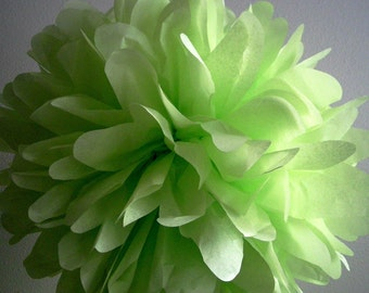 KEY LIME / 1 tissue paper pom pom / wedding decorations / diy / st. patricks day party / green decorations / lime green poms / hanging poms