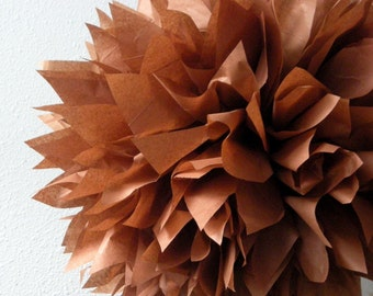 Sienna ... 1 tissue paper pom // fall wedding decorations // diy // thanksgiving // holiday party decorations