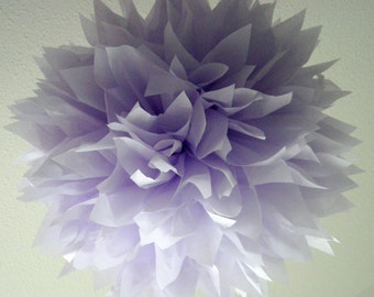 PALE PURPLE / 1 tissue paper pom pom / wedding decorations / aisle marker poms / birthday party decorations / diy / purple decorations