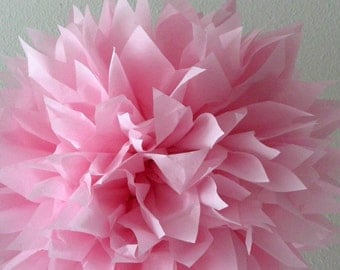 COTTON CANDY / 1 tissue paper pom / diy / pink decorations / wedding decorations / nursery pom poms / birthday party poms / light pink poms