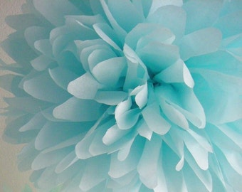 OCEAN / 1 tissue paper pom pom / wedding decorations / easter / luau decorations / birthday party poms / nursery pom / blue decorations