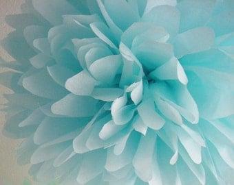 OCEAN / 1 tissue paper pom pom / wedding decorations / diy / luau party decorations / birthday party poms / nursery decor / blue decorations