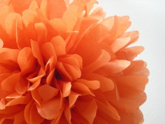 BURNT ORANGE / 1 tissue paper pom pom / wedding decorations / diy / thanksgiving decorations / holiday party decor / orange decorations