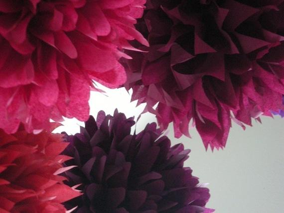 BERRIES... 5 poms // wedding decorations // diy // bachelorette party // housewarming decorations