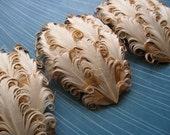 Set of 5 Feather Pads - Original Buttercream Curled Goose Nagorie Pads