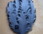 1 Silver on Black Feather Pad