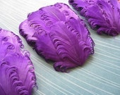 SET OF 5 Feather Pads - Purple Nagorie Curled Goose Feather Pad