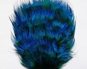 1 Peacock Feather Pad in Turquoise Blue Peacock Plumage - RARE STYLE