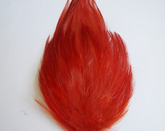 1 Paprika Hackle Feather Pad