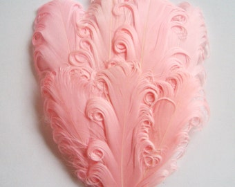 Feather Pad - 1 Light Pink Nagorie Curled Goose Feather Pad